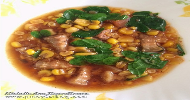 Corn Soup With Pork And Moringa Leaves Recipe