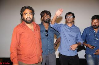 Poojita Super Cute Smile in sleevelss Blue Top black Trousers at Darsakudu press meet ~ Celebrities Galleries