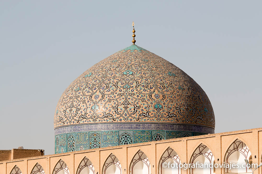 Cupula de la Mezquita Sheikh Lotfollah en Isfahan