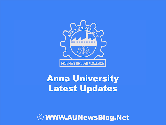 Anna University Revaluation Last Date for First Year Nov Dec 2018 Exams