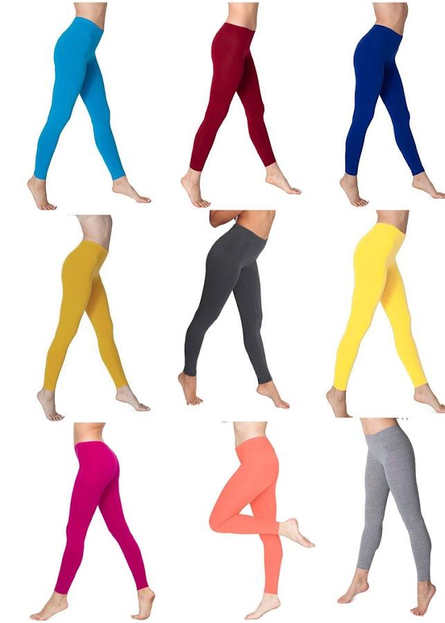 Leggins lisos en diversos colores