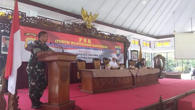 Cipta Kondisi Kamtibmas, Dandim Batang Hadiri Acara Forum Silaturahmi Kamtibmas