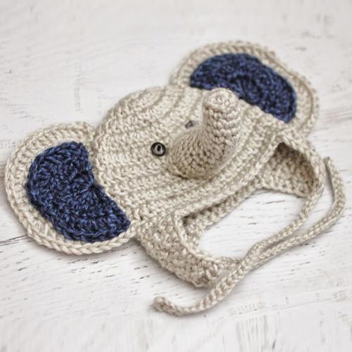 Baby Elephant Crochet Hat - Free Pattern