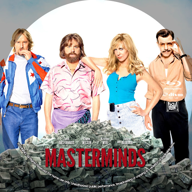Masterminds Bluray Label