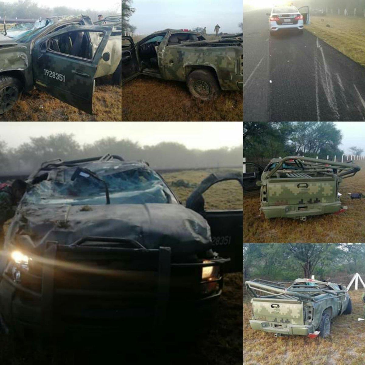 6 militares heridos y uno muerto deja accidente en San Luis Potosí
