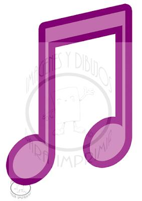 Notas musicales grandes para imprimir