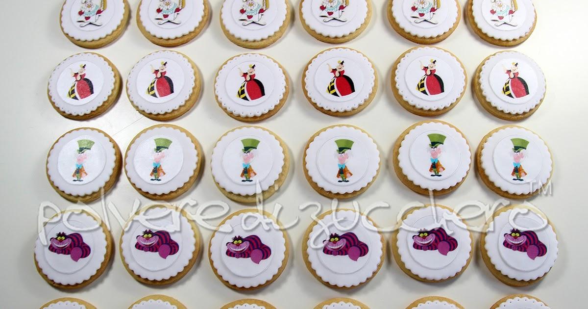Biscotti decorati in pasta di zucchero di Alice nel paese delle meraviglie
