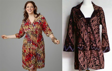 Model Baju Batik Kantor Wanita Gemuk Elegan