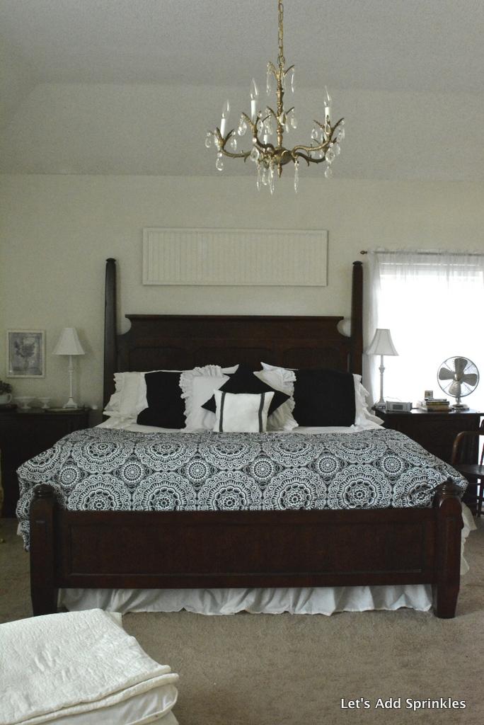 Let 39 S Add Sprinkles Black And White Master Bedroom