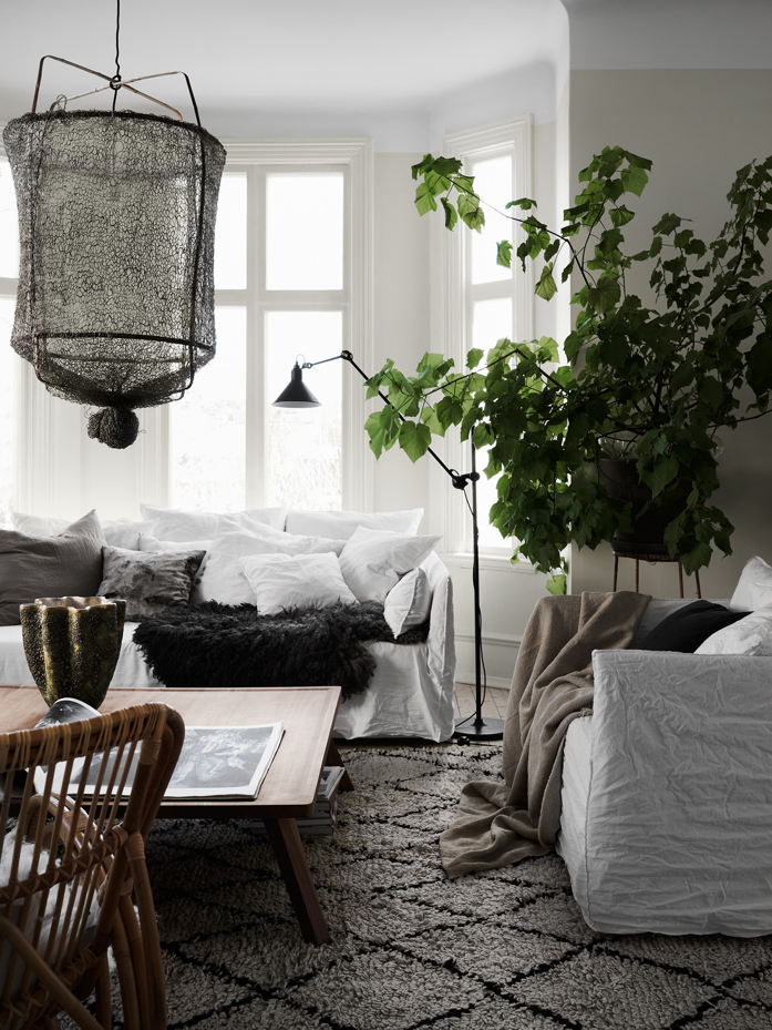 Cozy living room photographed by Kristofer Johnsson