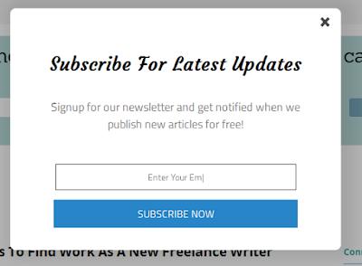 Membuat PopUP Email Berlangganan diBlog
