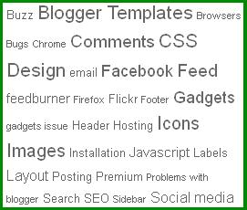 구글블로그 사용법: 라벨 클라우드 글자 크기(font-size) 설정 및 정렬하는 방법