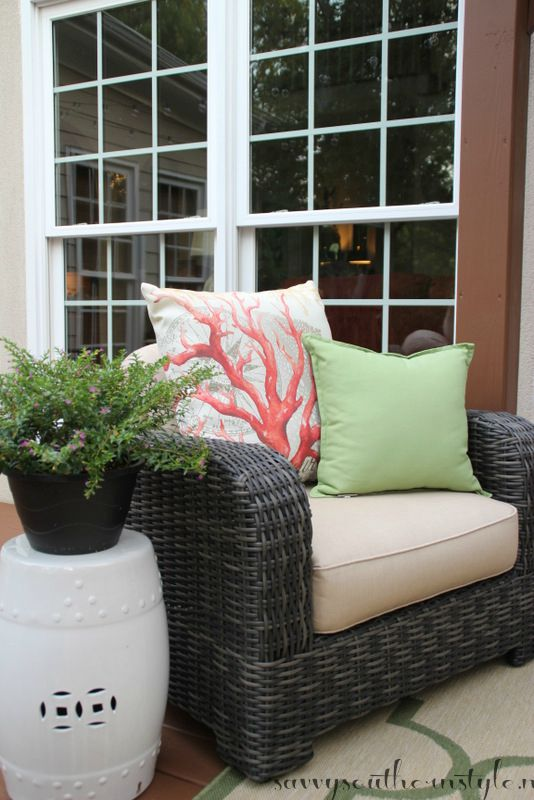 enjoyable home depot garden stool. The fun part was shopping for the accessories  garden stool found at HomeGoods and less than forty dollars I have seen so many over one Savvy Southern Style My Outdoor Room Deck Reveal