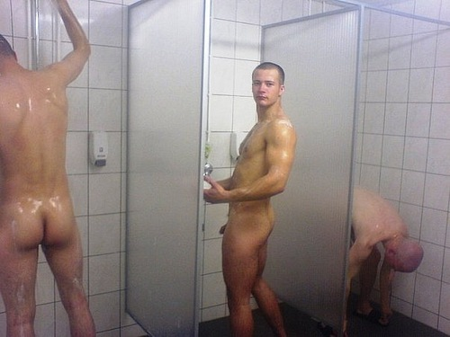 Straight boys showering gay does bare yoga 7