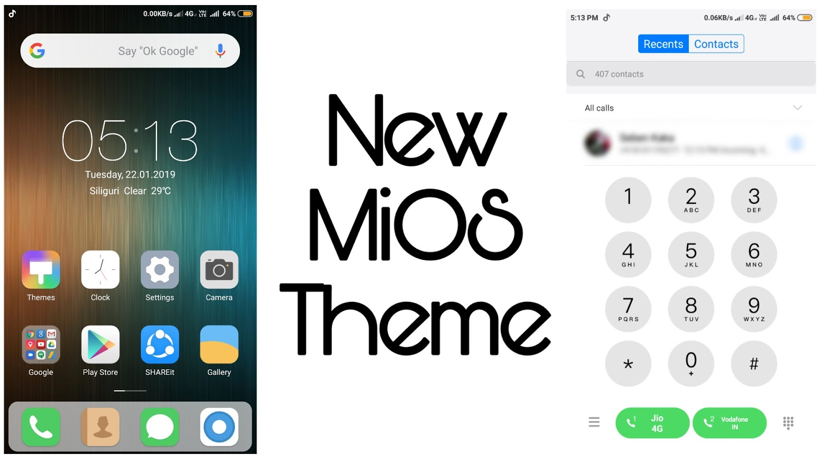best MiOS ui theme only for miui 10 - SayanTechS1