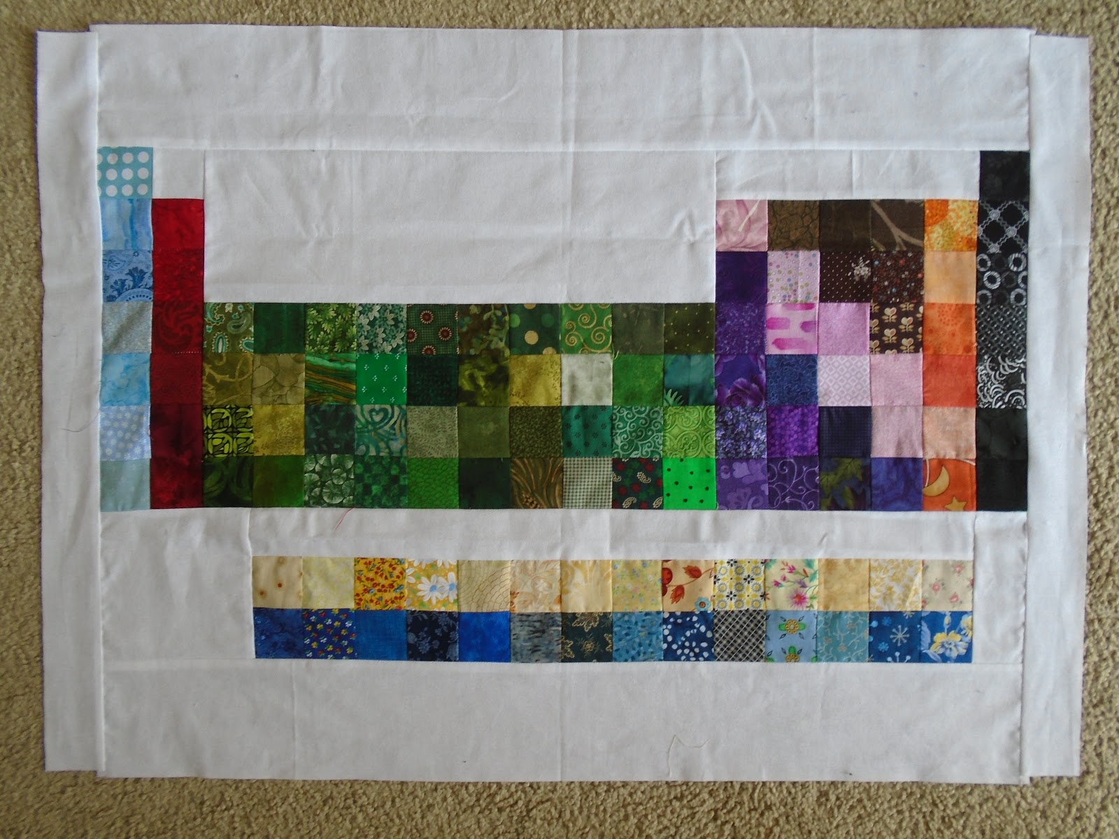 Little bunny quilts periodically two periodic table quilts within each wall hanging there are no fabric repeats each wall hanging has all of the same fabrics but just laid out differently urtaz Choice Image