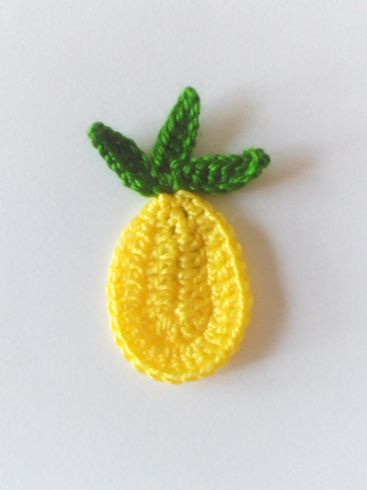 Trenda Lerenda: Aplicación de piña a crochet. Patrón gratis.