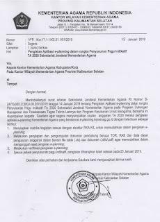 Pengisian Aplikasi e-planning dalam rangka Penyusunan Pagu Indikatif TA 2020 Sekretariat Jenderal Kementerian Agama