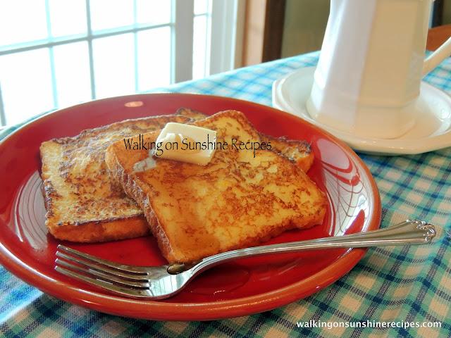 Freezer French Toast from Walking on Sunshine Recipes.