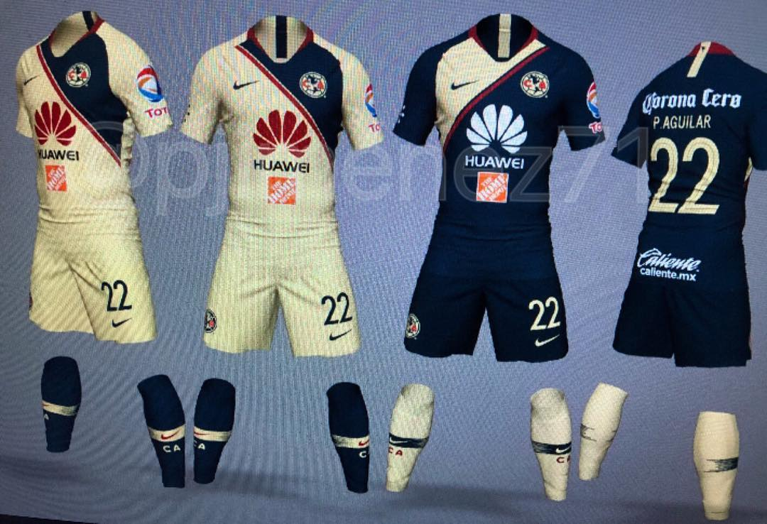 98210bbd229 The new Nike Club America 18-19 home and away kits have been leaked  courtesy of @pjimenez71. They are set for a release in Summer 2018.