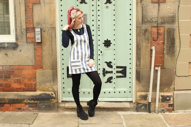Topshop Pinafore Dress