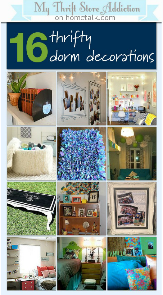 Decorate a Dorm Room for Less Inspiration Board mythriftstoreaddiction.blogspot.com Featured on Hometalk