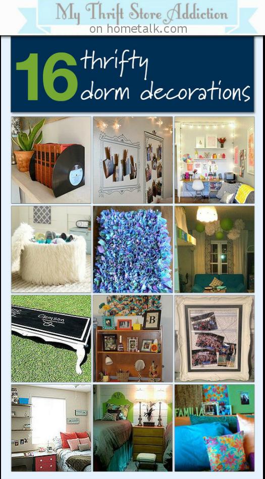 Decorate a Dorm Room for Less Inspiration Board mythriftstoreaddiction.blogspot.com Featured on Hometalk