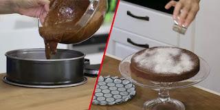 unsuz çikolatalı kek tarifi pastane, unsuz kek tarifi oktay usta, KahveKafeNet