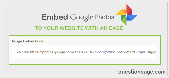 Embed Images From Google Photos