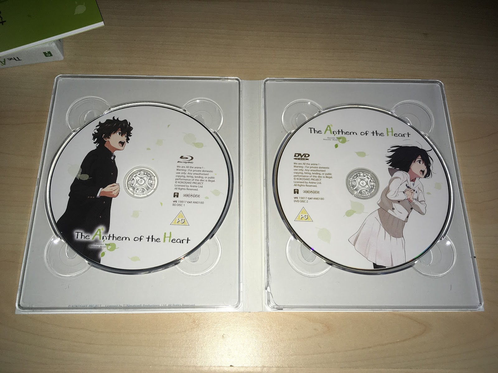 The Anthem Of The Heart Is Available On Blu Ray And DVD From Anime Limited.