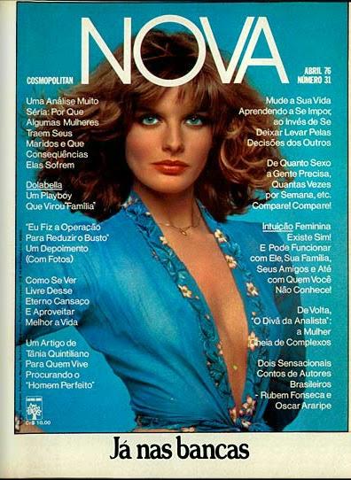Propaganda da Revista Nova para a edição de Abril de 1976.