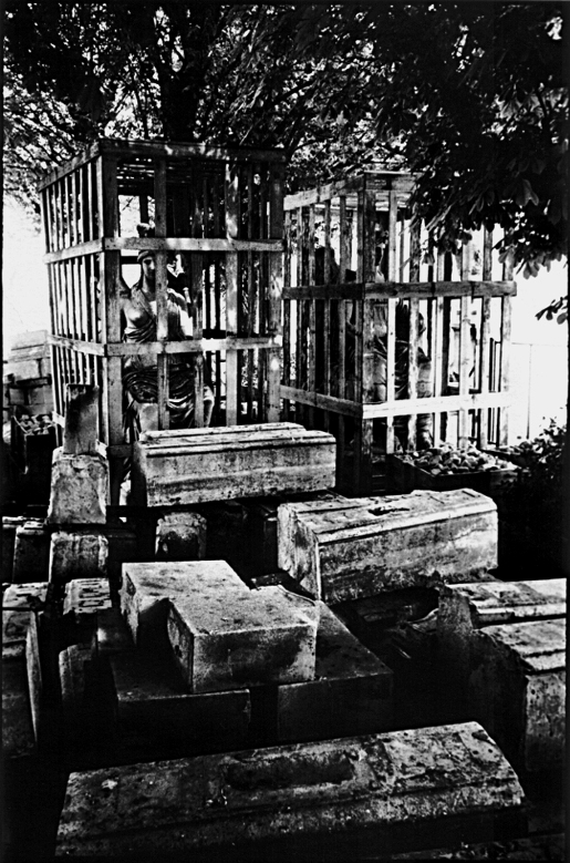 Statues cage bois jardins musée Louvre franck chevalier paris