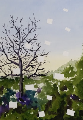 Watercolor - Singe Tree without Leaves - JKeese
