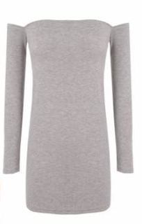 cndirect grey long sleeve dress