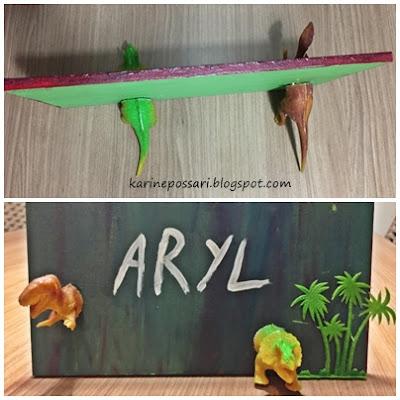 como fazer quadro 3D dinossauros