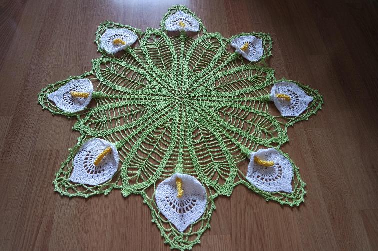 Ergahandmade Crochet Doily With Calla Lily Video Tutorial Pattern