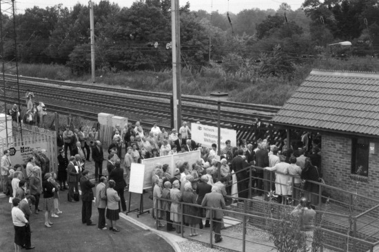 Photograph of Crowds of onlookers gather for the opening Image by Ron Kingdon