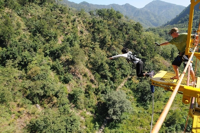 Rishikesh - the highest bungee jumping spot in India