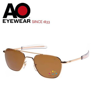 AO Military Original Pilot Aviator Sunglasses (Gold, Cosmetan® Brown)