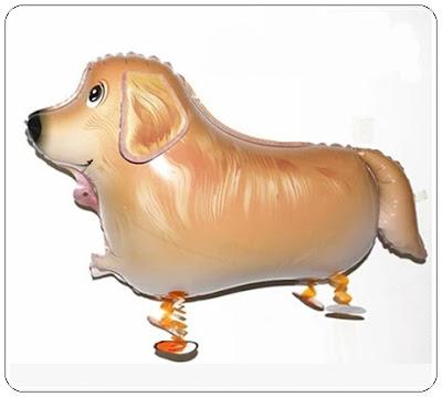 Balon Foil Airwalker Anjing Golden Retriever