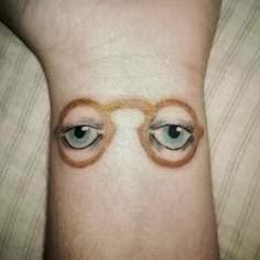 Awesome eyes wrist tattoo!