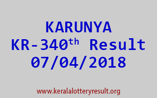 KARUNYA Lottery KR 340 Results 07-04-2018