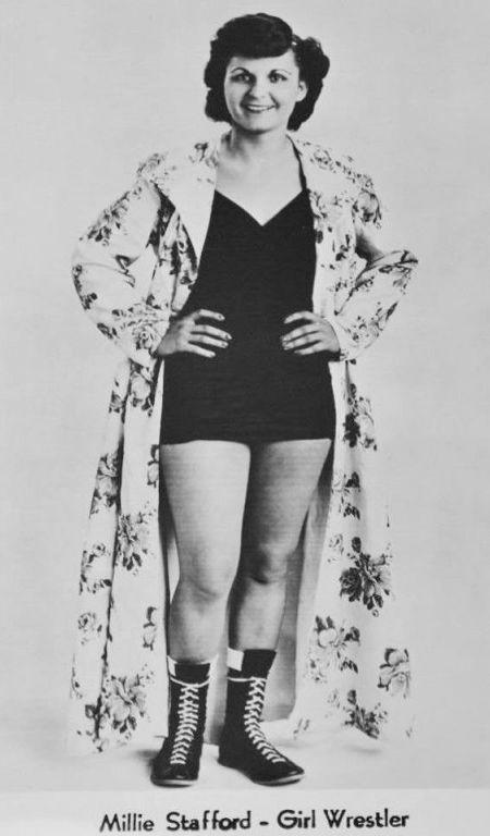 Womens Pro Wrestling Millie Stafford - Female Wrestling-7492