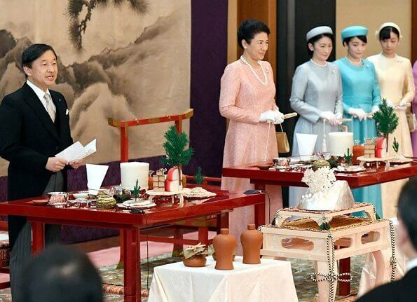 Empress Masako, Crown Princess Kiko, Princess Mako, Princess Kako and other members of the imperial family