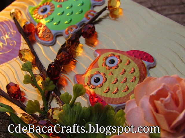 Cute Handmade Owl Cards and Ideas for Inspiration by CdeBaca Crafts Blog.