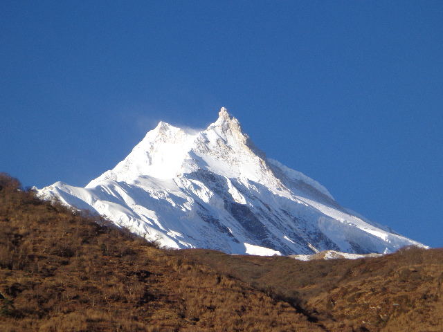 Best peak of the mount Mananaslu , the eigth tallest mountain in the world.