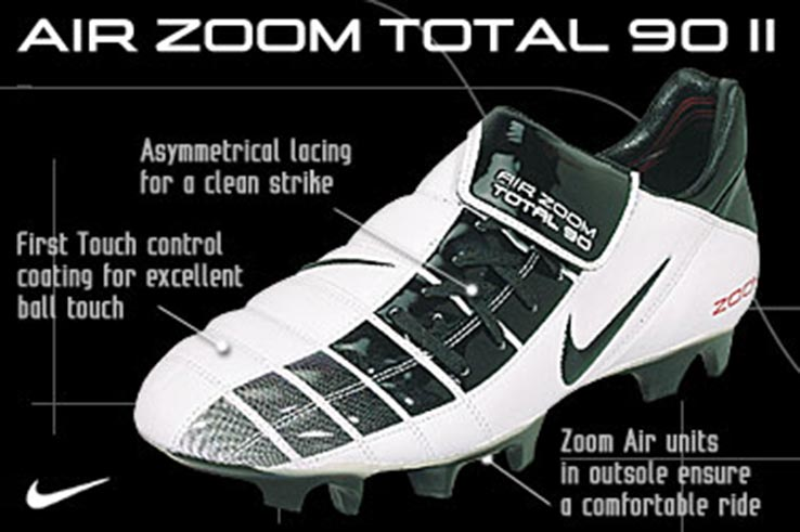 half off b3abd f8398 Closer Look: Nike Air Zoom Total 90 II 2002 Football Boots ...