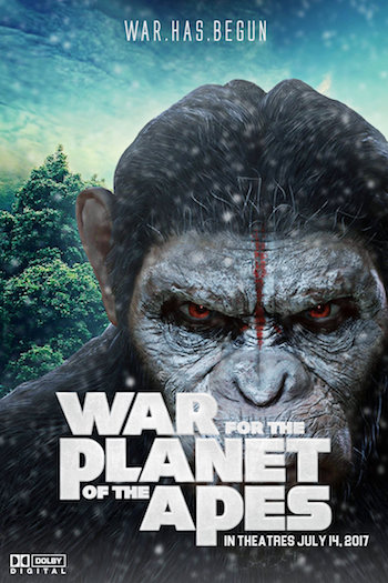 War for the Planet of the Apes 2017 CAMRip Hindi Dubbed 650MB