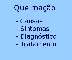 Queimação causas sintomas diagnóstico tratamento prevenção