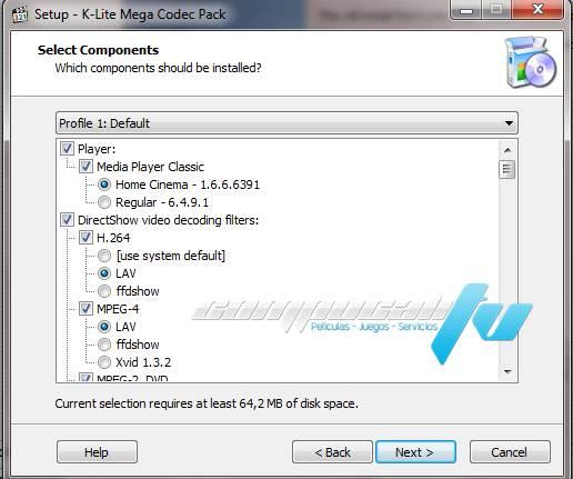 versión K-Lite Codec Pack Full 10.4.5